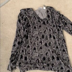 Liz Claiborne collection black and gray top